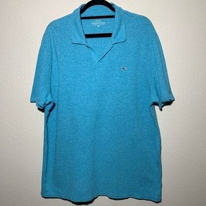 VINEYARDVINES Mens XL Blue Vneck Polo